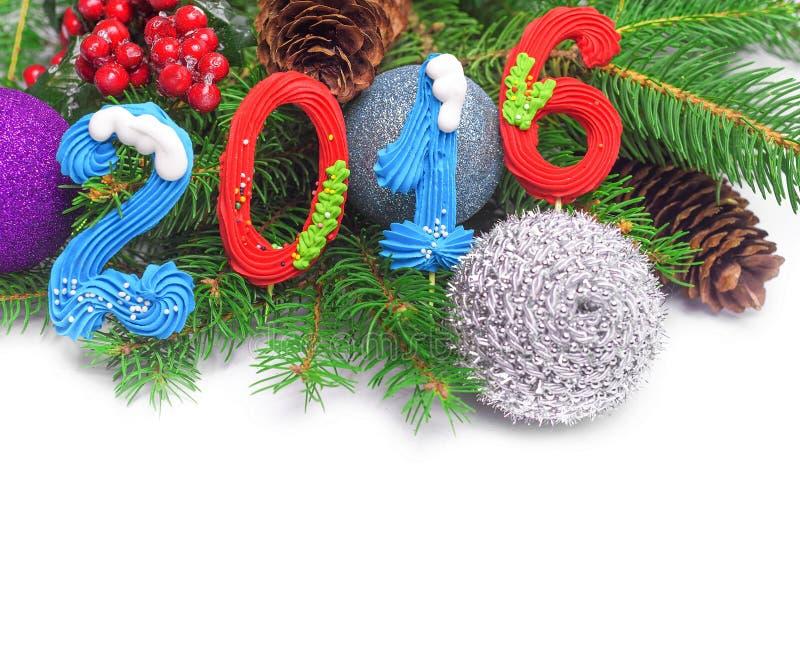 garnering för nytt år 2016 royaltyfria foton