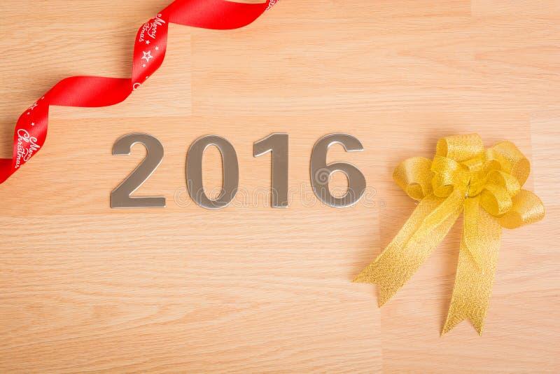 Garnering för nytt år, Closeup på 2016 royaltyfri bild