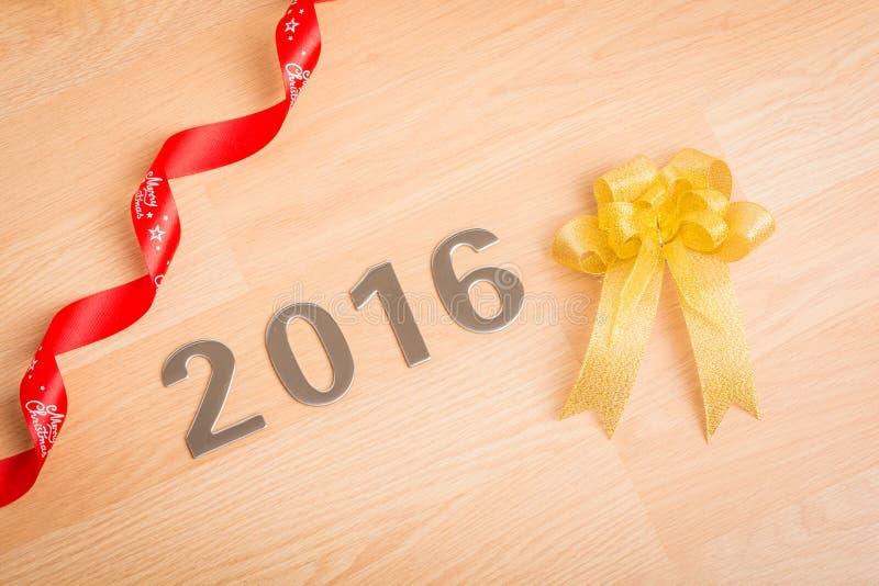 Garnering för nytt år, Closeup på 2016 royaltyfria foton