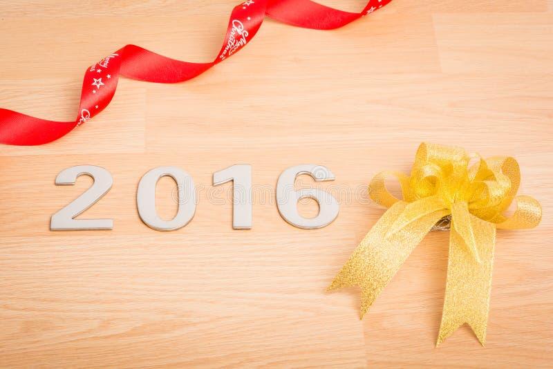 Garnering för nytt år, Closeup på 2016 royaltyfri fotografi