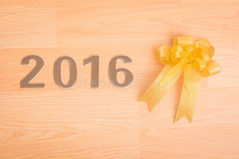 Garnering för nytt år, Closeup på 2016 arkivfoton