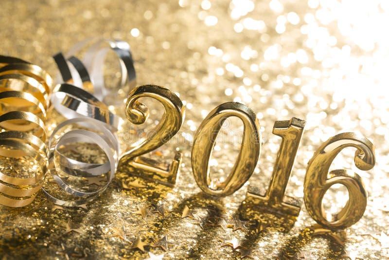Garnering för nytt år med 2016 arkivfoton