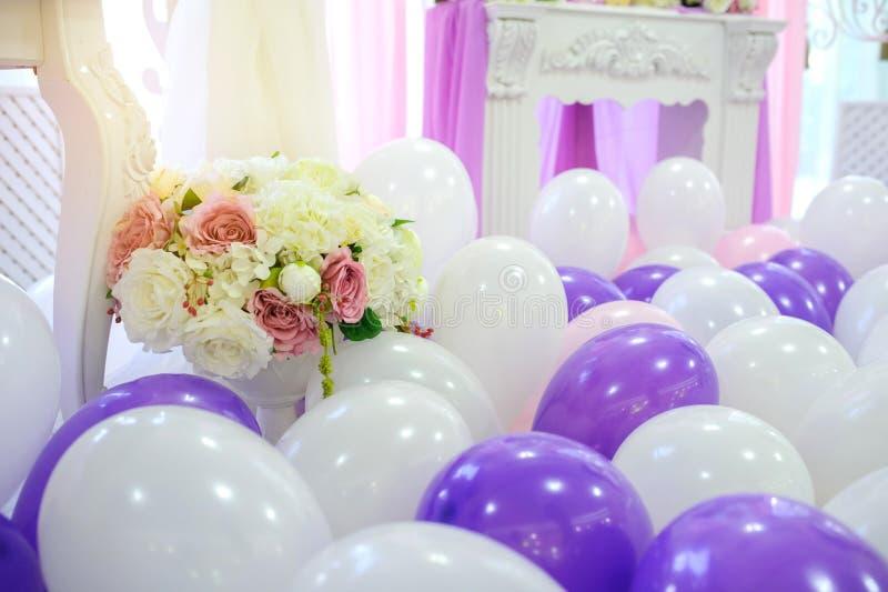 Garnering med ballonger royaltyfri foto