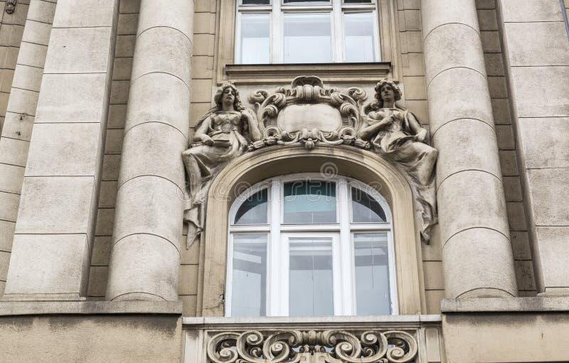 Garnering på fasaden royaltyfri bild
