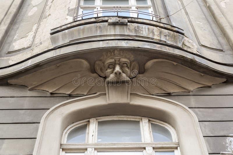 Garnering på fasaden royaltyfria bilder