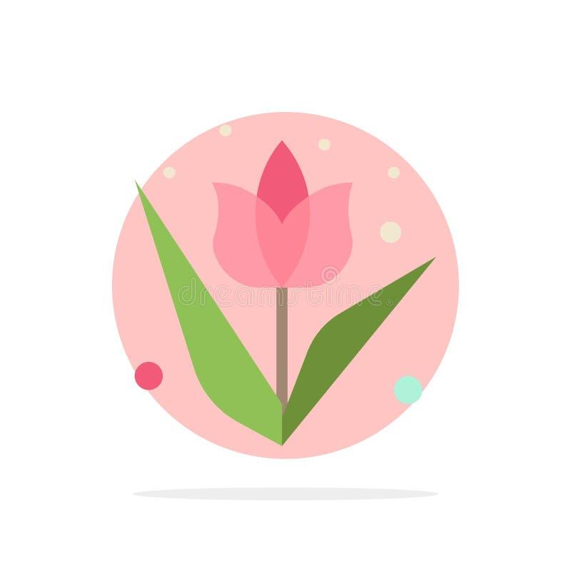 Garnering påsk, blomma, för abstrakt symbol för färg cirkelbakgrund för växt plan royaltyfri illustrationer