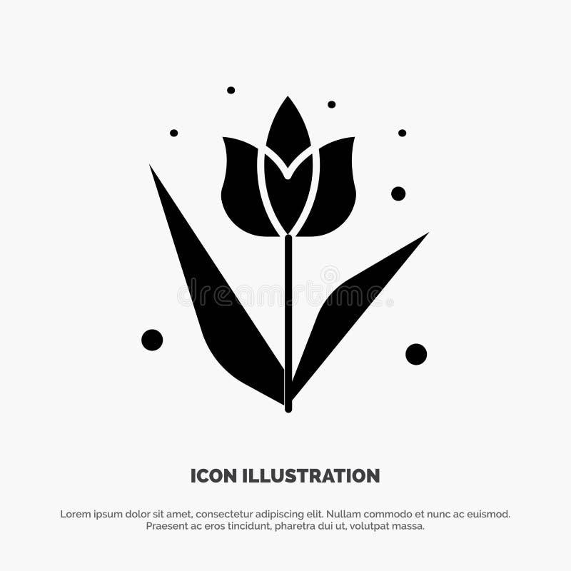 Garnering påsk, blomma, för skårasymbol för växt fast vektor stock illustrationer