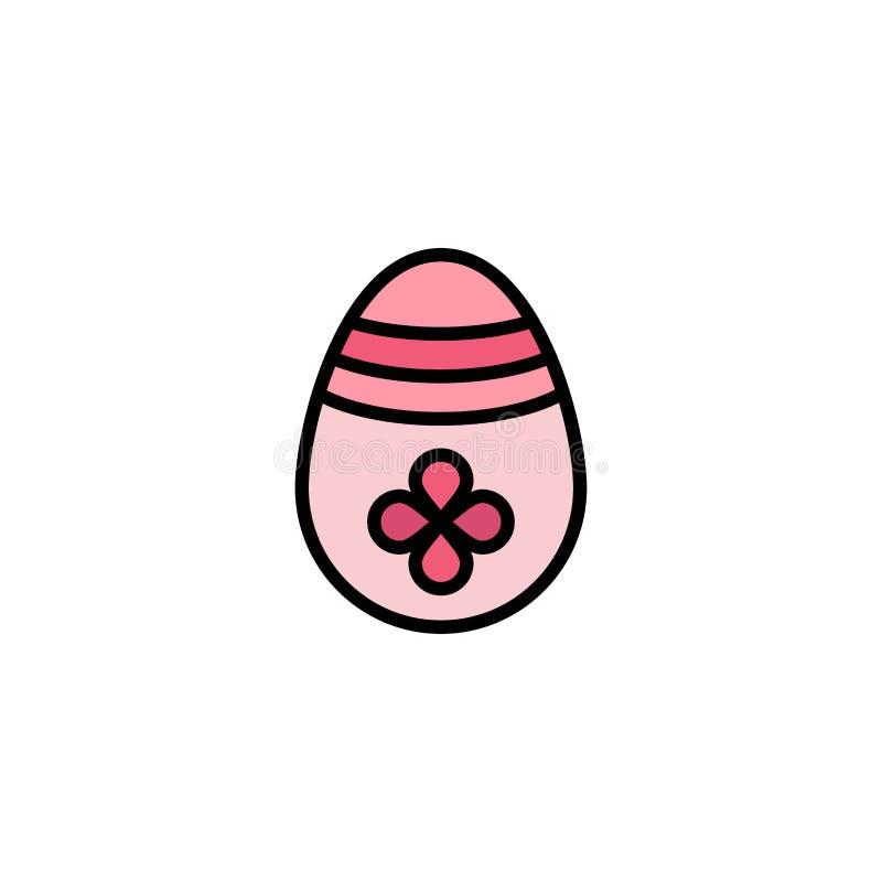 Garnering påsk, påskägg, äggaffär Logo Template plan f?rg vektor illustrationer