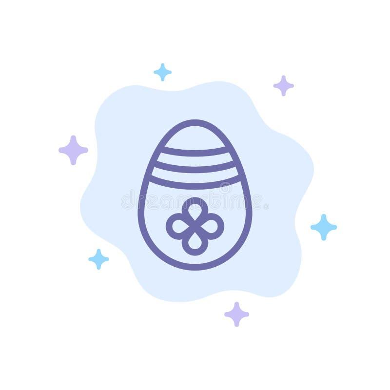Garnering påsk, påskägg, blå symbol för ägg på abstrakt molnbakgrund stock illustrationer