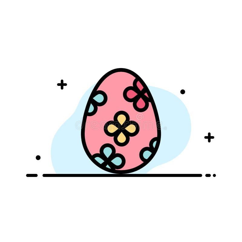 Garnering påsken, påskägget, plan linje för äggaffär fyllde mallen för symbolsvektorbanret stock illustrationer