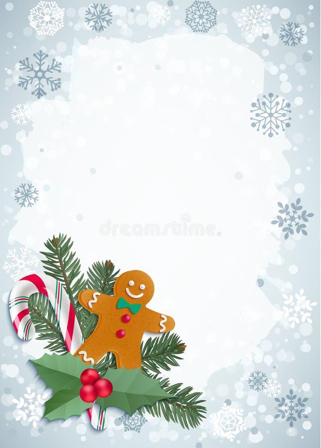 Garneringar för jul och för lyckligt nytt år vektor illustrationer