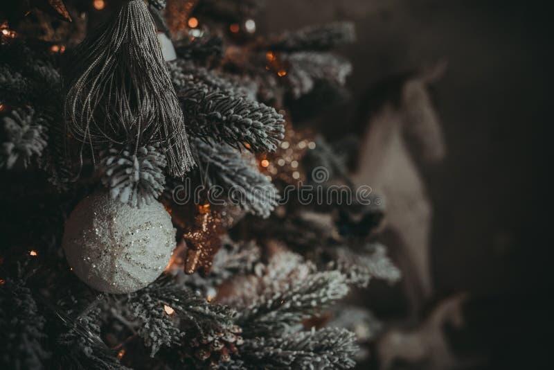 Garneringar för julferietappning arkivbild