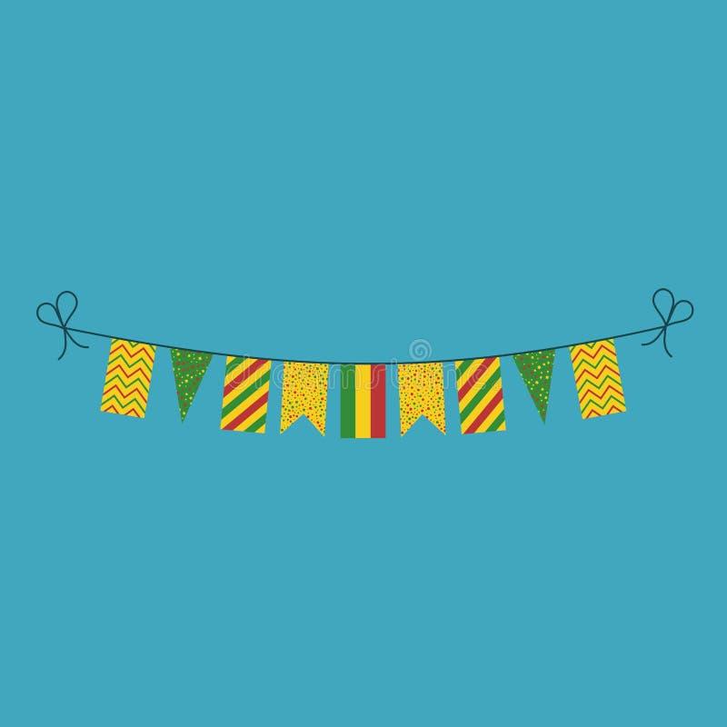 Garneringar som bunting flaggor för ferie Bolivia för nationell dag i plan design royaltyfri illustrationer