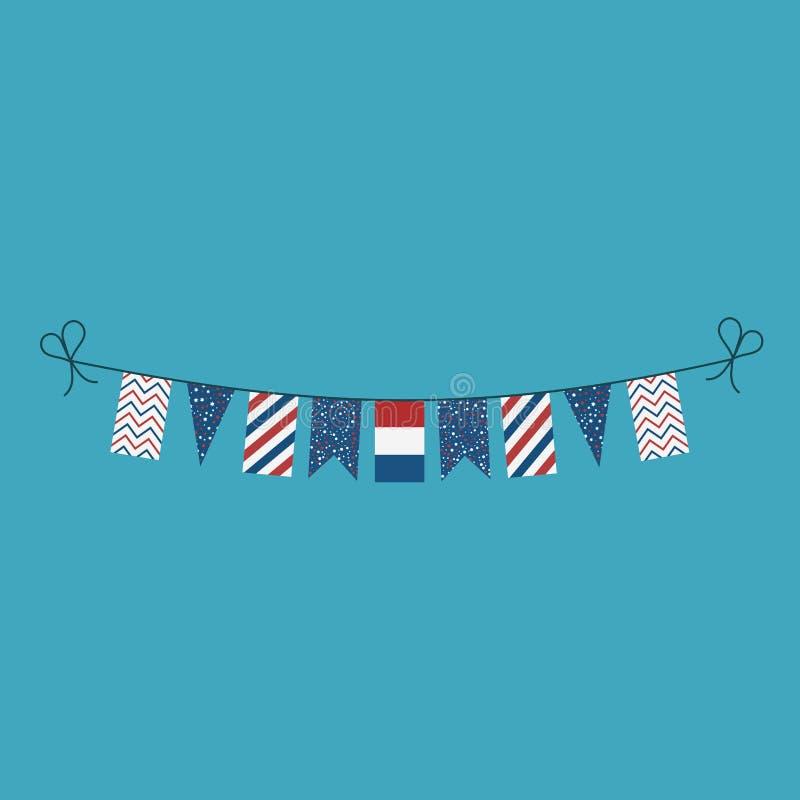 Garneringar som bunting flaggor för ferie för nationell dag för Nederländerna i plan design vektor illustrationer