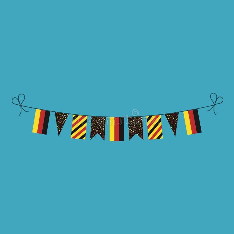 Garneringar som bunting flaggor för ferie för nationell dag för Tyskland i plan design vektor illustrationer