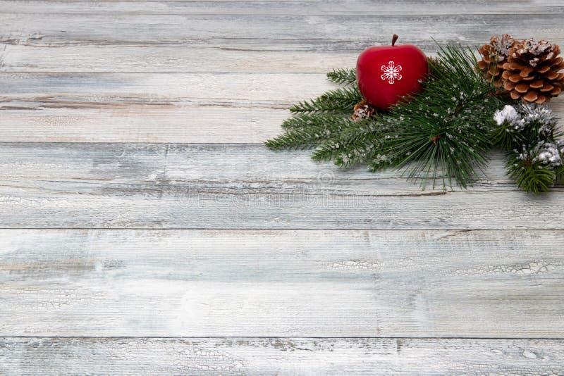 Garneringbakgrund för jul eller för lyckligt nytt år Sammansättning f arkivbilder