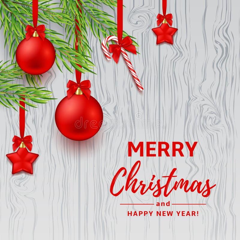 Garneringbaner för jul eller för nytt år vektor illustrationer