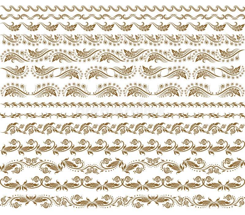 garneringelementhorisontalvektor royaltyfri illustrationer