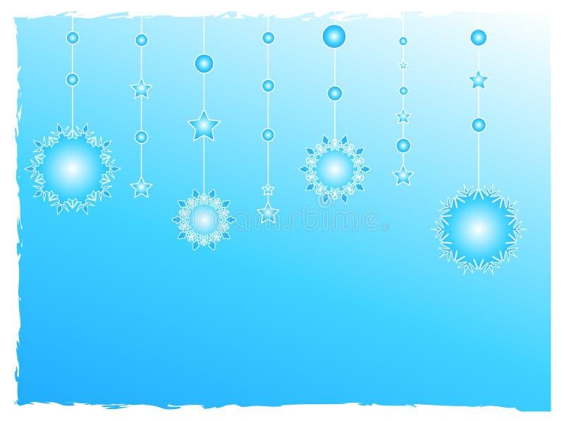 garneringen flagar snow royaltyfri illustrationer
