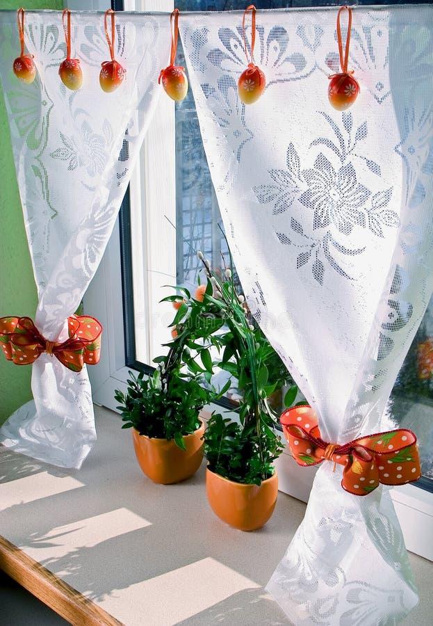 garneringfönster arkivfoto