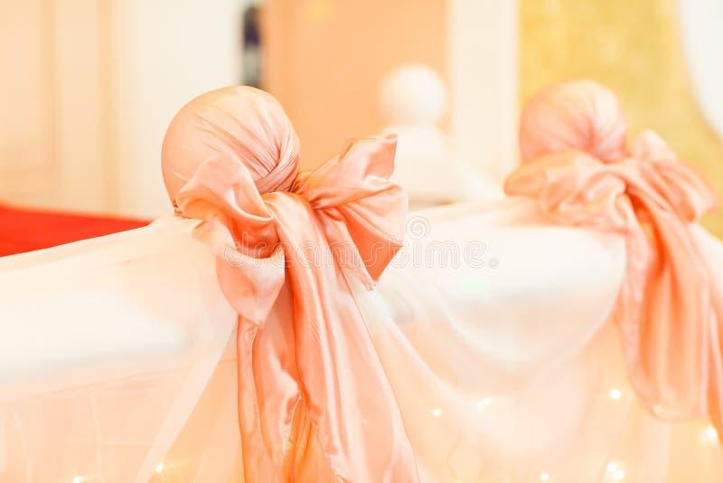 Garneringpilbåge på bröllop arkivfoton