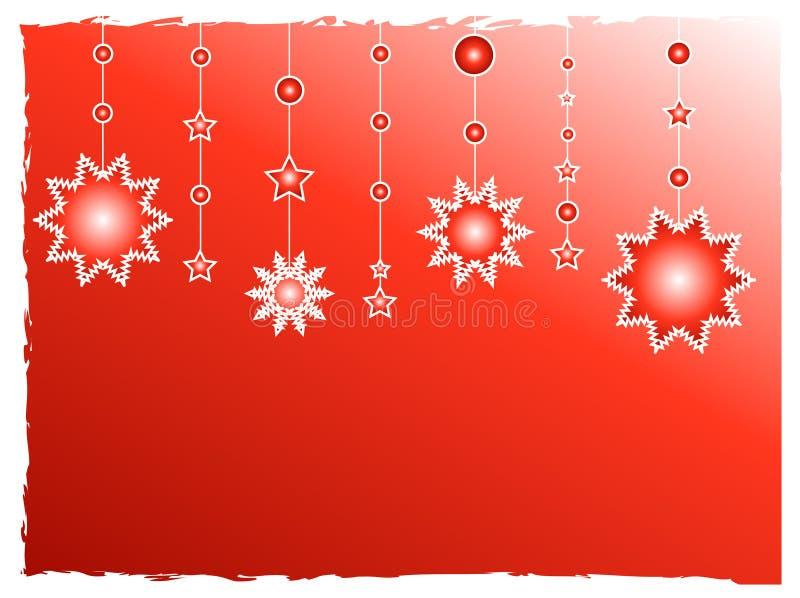 garneringredstjärnor royaltyfri illustrationer