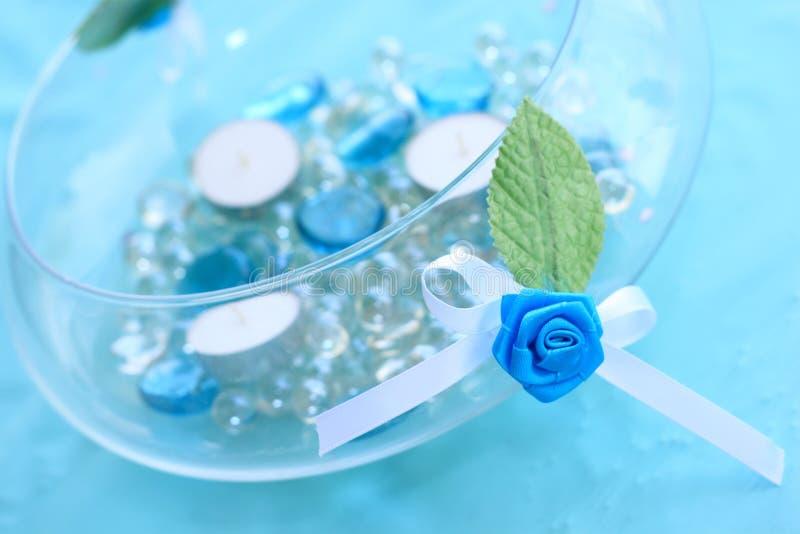 garneringrosettebröllop arkivfoton