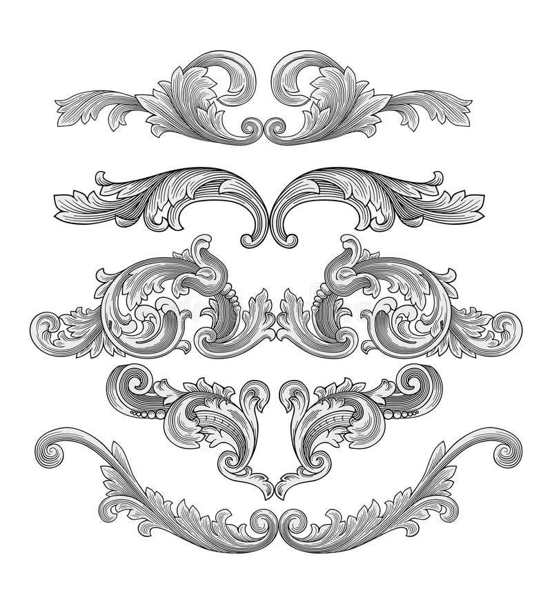 garneringvektor vektor illustrationer
