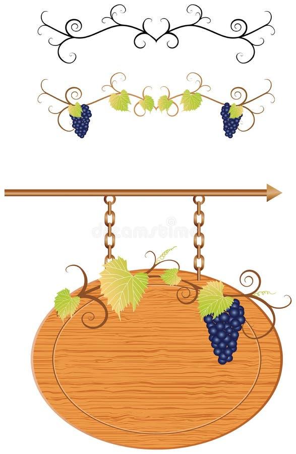 garneringvine stock illustrationer