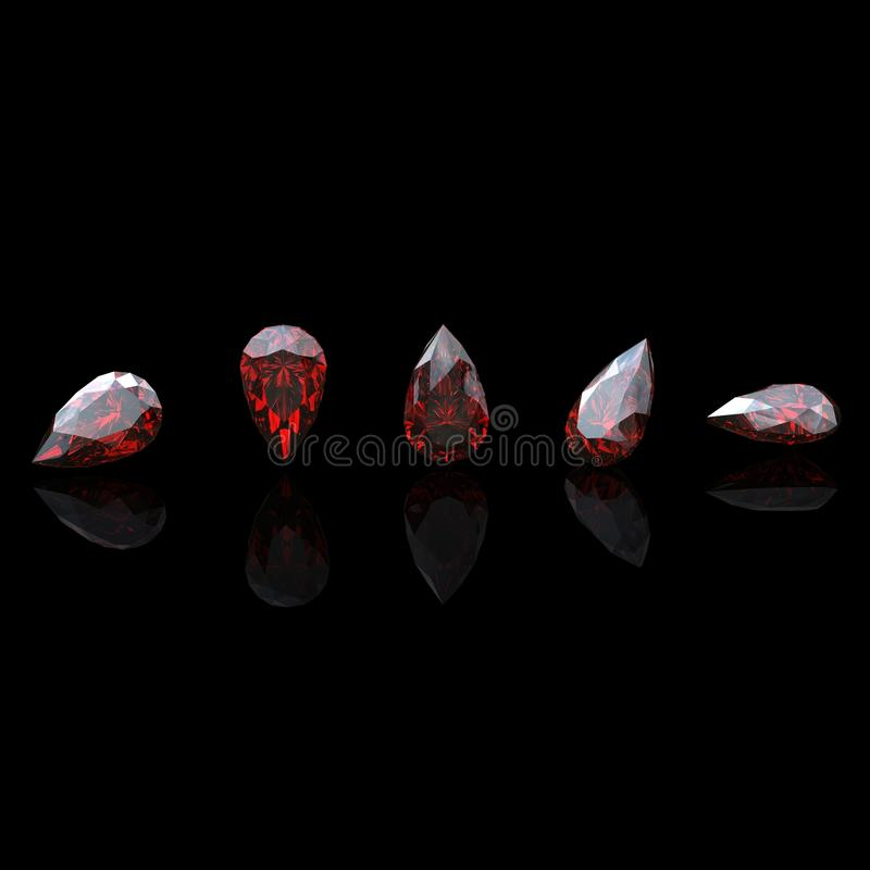 Download Garnet. Jewelry gems stock illustration. Image of luxury - 27331562