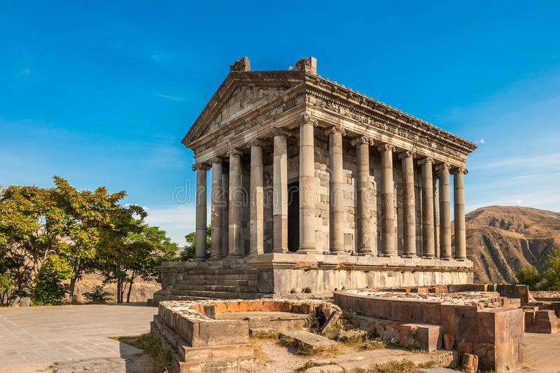 Garni古希腊寺庙在亚美尼亚 库存照片