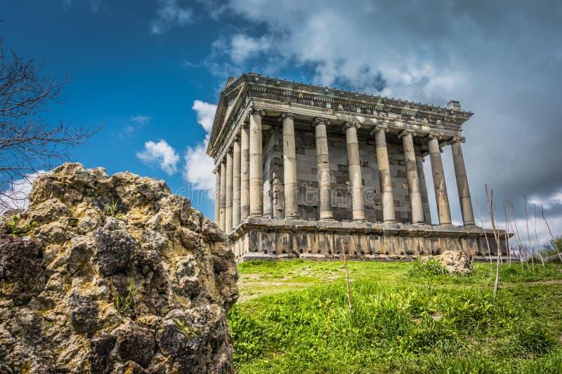 Garni寺庙例子古希腊和罗马式建筑,位于科泰克省,亚美尼亚 库存图片