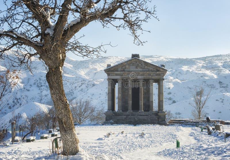 Garni寺庙在亚美尼亚 免版税库存照片