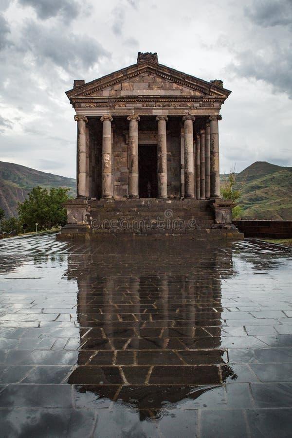 Garni Heidense Tempel, de hellenistic tempel in Republiek Armenië royalty-vrije stock foto