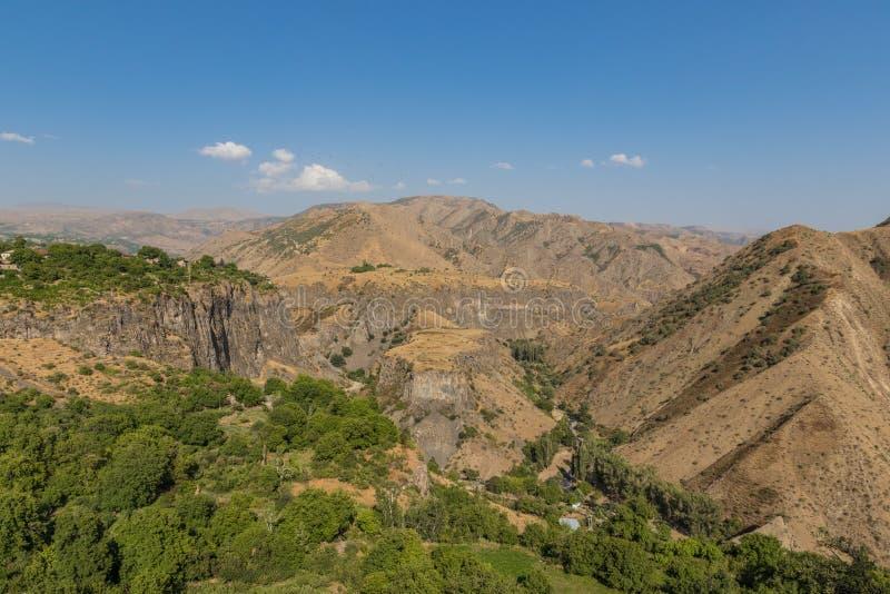 Garni klyfta, Armenien royaltyfria foton