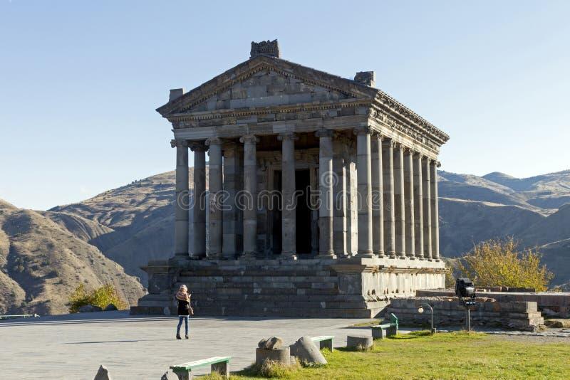 Garni tempel arkivfoton