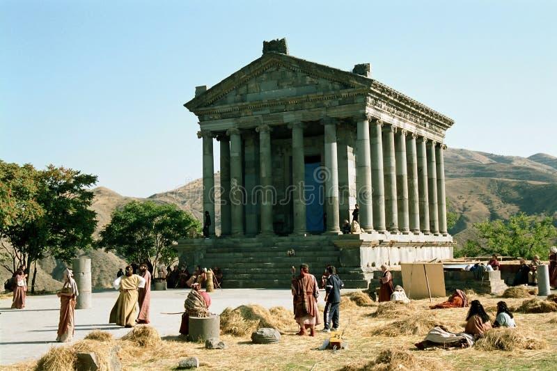 Garni Tempel in Armenien lizenzfreie stockfotos