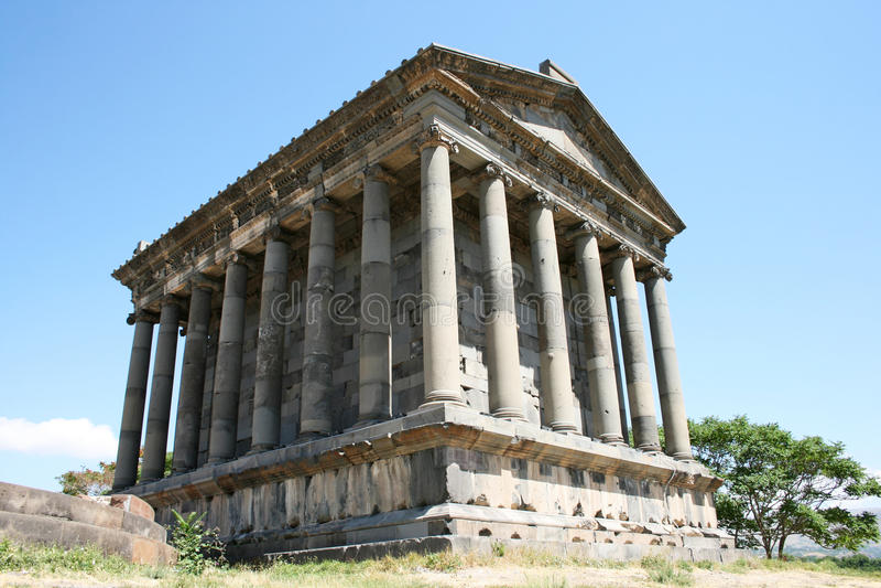 Garni temple stock photography