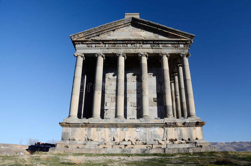 Garni temple,dedicated to sun god Mithra,Armenia royalty free stock images