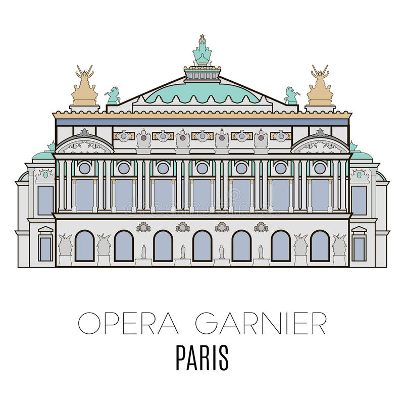 garnier opera Paris ilustracja wektor
