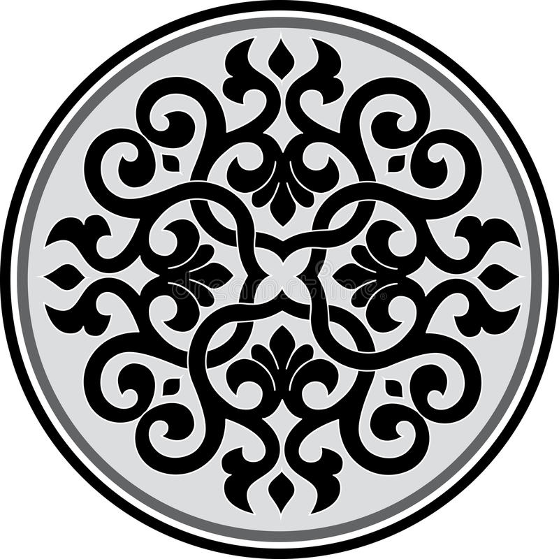 Garnished pattern royalty free illustration