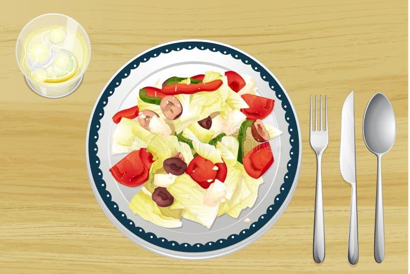 Download Garnished Salad In Dish Royalty Free Stock Photos - Image: 33203318