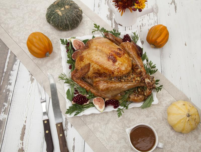 Traditional Roasted Turkey royalty free stock images