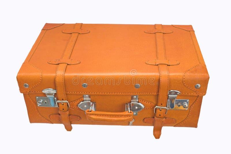 Garnissez en cuir la valise photos stock