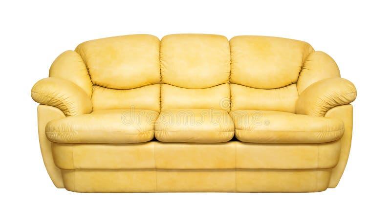 Garnissez en cuir le sofa images libres de droits