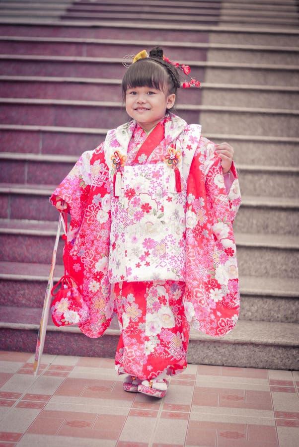 3 5 7 garnitur do San shichi fotografia royalty free