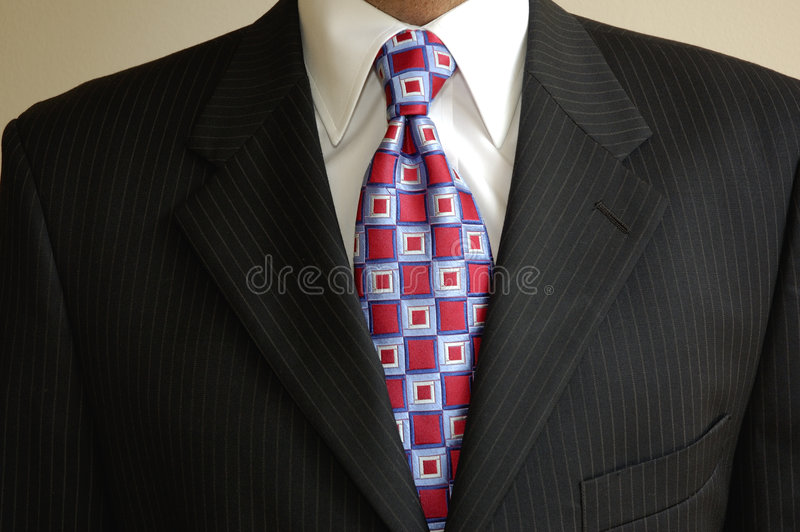garnitur krawat biznesmena fotografia stock