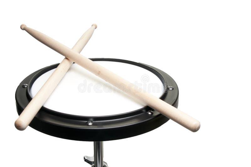 Garniture de pratique en matière de tambour images libres de droits