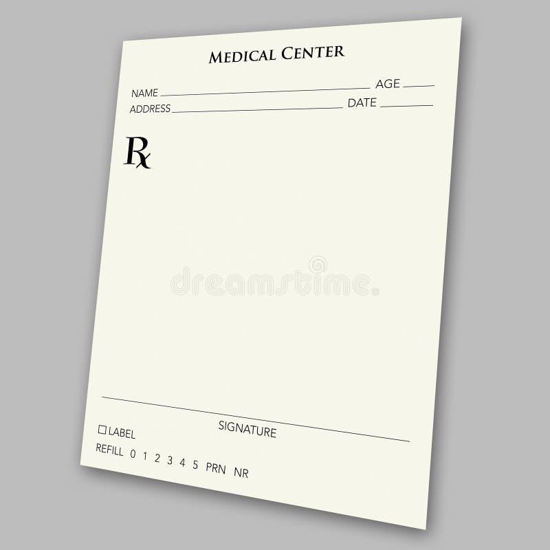 Garniture de prescription illustration libre de droits