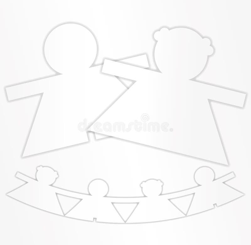 Garniture et configuration collantes illustration de vecteur